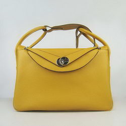 Hermes Lindy 34CM Shoulder Bag Yellow
