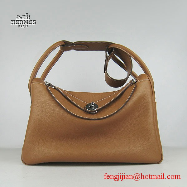 Hermes Women Shoulder Bag Light Coffee 6208