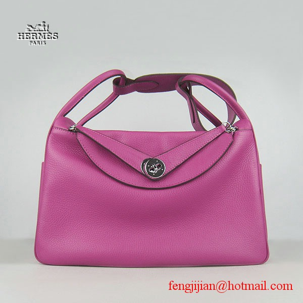 Hermes Lindy Women Shoulder Bag Peachblow 6208