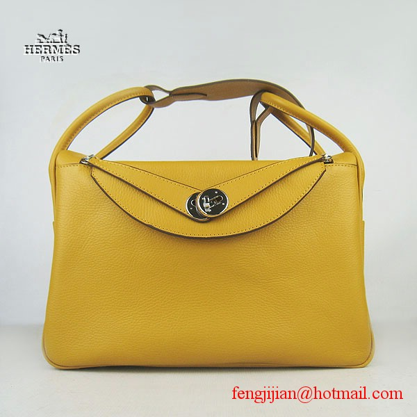 Hermes Women Shoulder Bag Yellow 6208