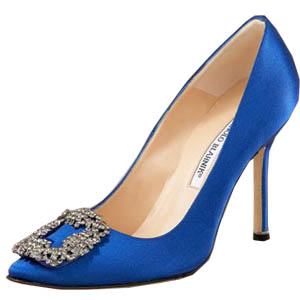 Manolo Blahnik Something Satin Pump jewelry blue
